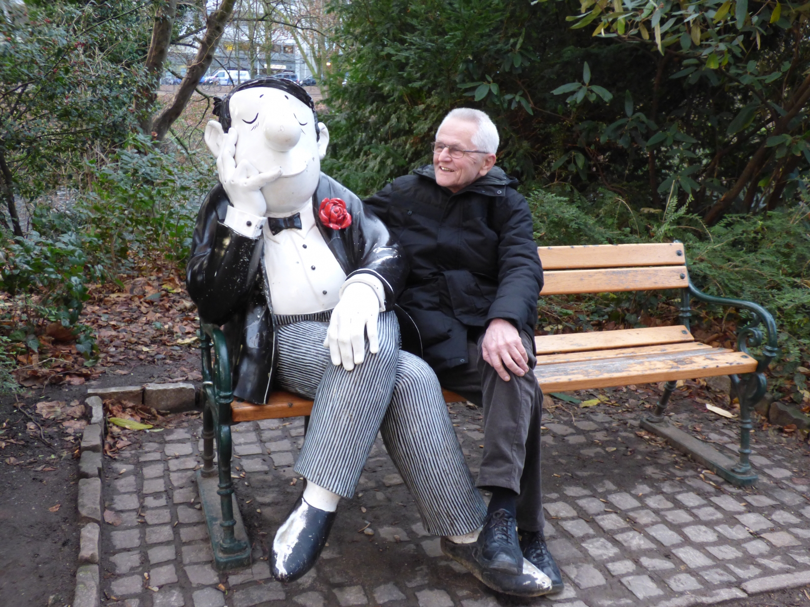 Peter mit Loriot Figur 2018